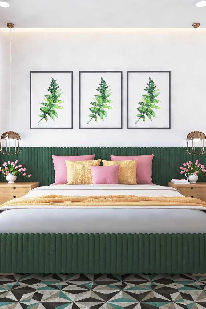 Que tal escolher a cor verde para decorar o quarto de casal?