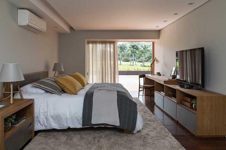 Que maravilha acordar com um cenário como esse depois de uma boa noite de sono no quarto de casal.