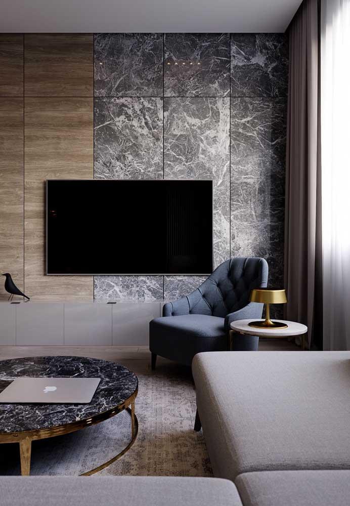 Veja como você pode decorar a sala cinza com turquesa azul.