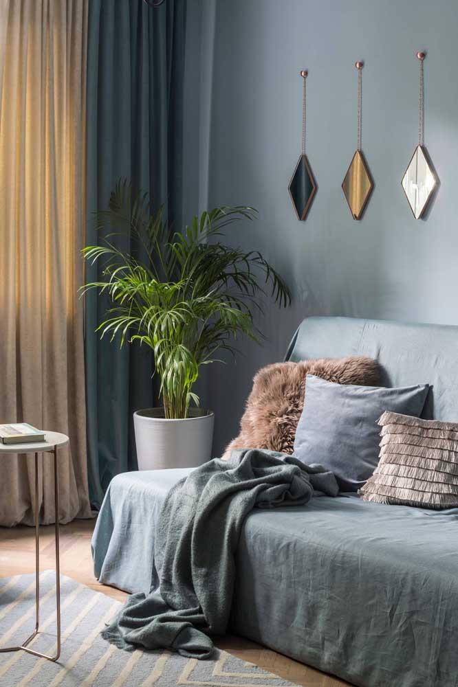 Os elementos decorativos fazem toda a diferença na sala de estar.