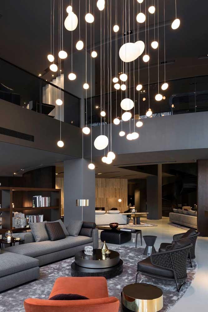 Que tal fazer uma iluminação diferenciada na sala de estar?