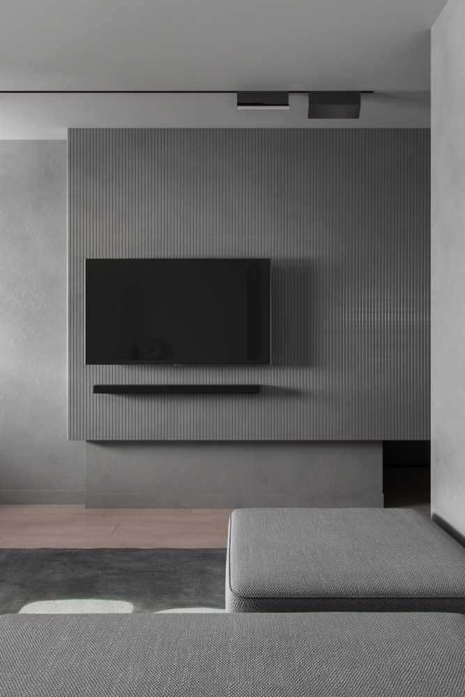 Com a cor cinza você pode fazer uma decoração mais simples.