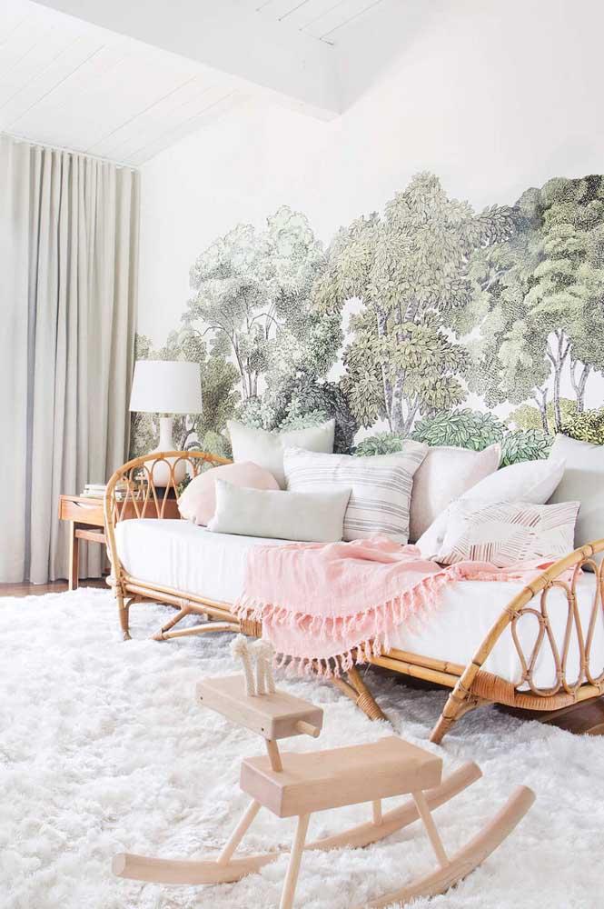 Um tapete felpudo para combinar com a decoração da casa.