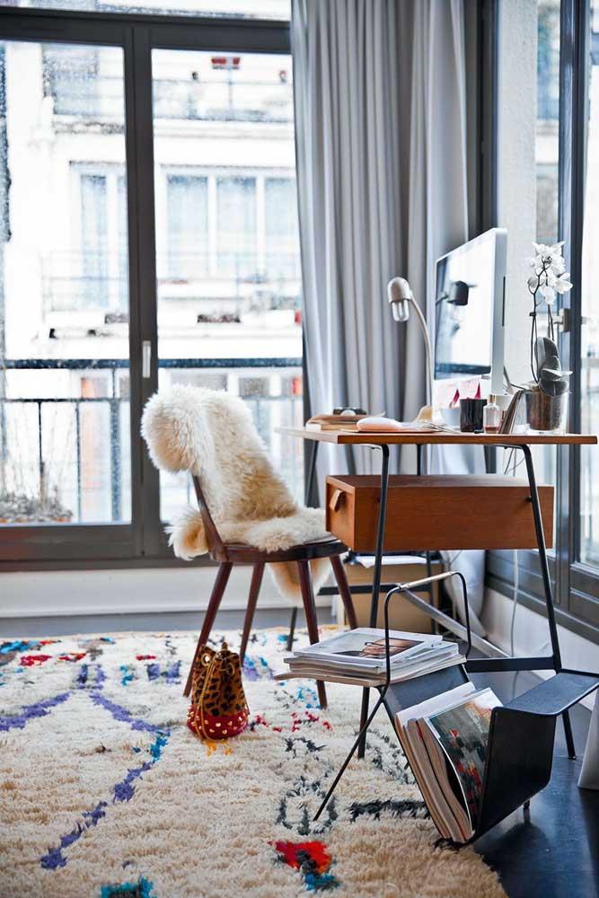 No caso do tapete felpudo para quarto pode ser estampado.
