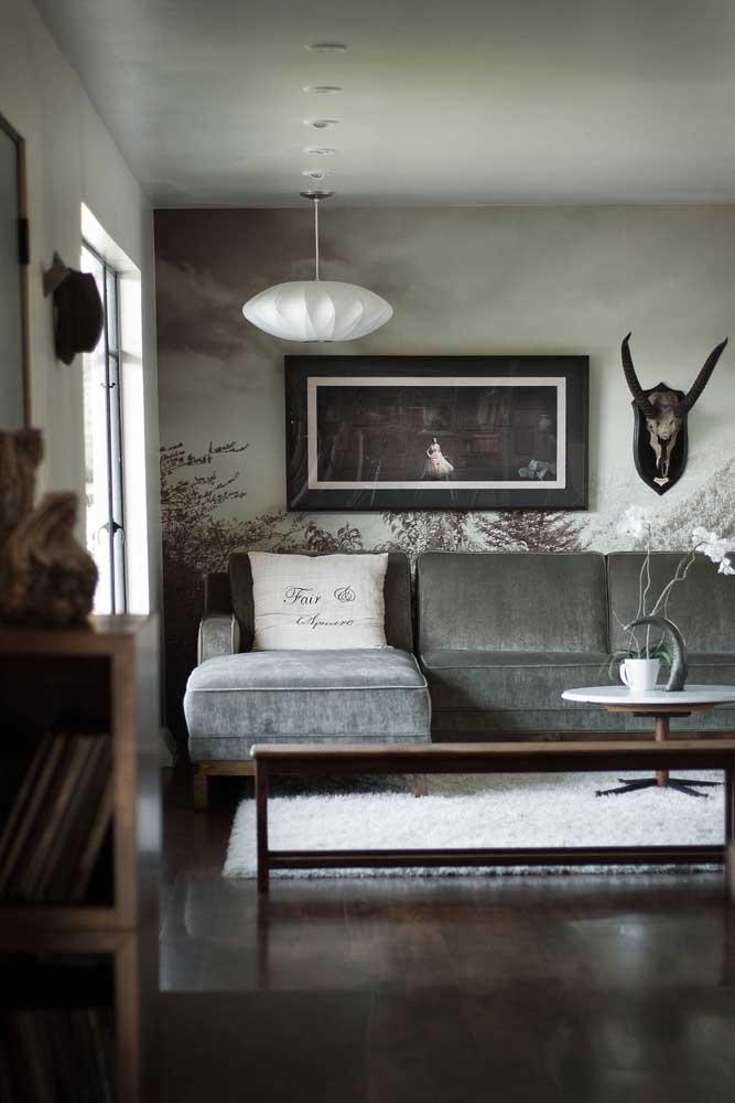Na sala o tapete felpudo de cor mais clara acaba sendo o mais indicado para esse ambiente.