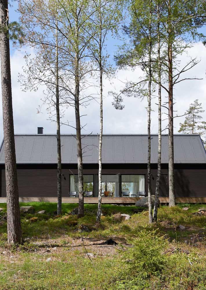 Integre a paisagem com a casa de campo