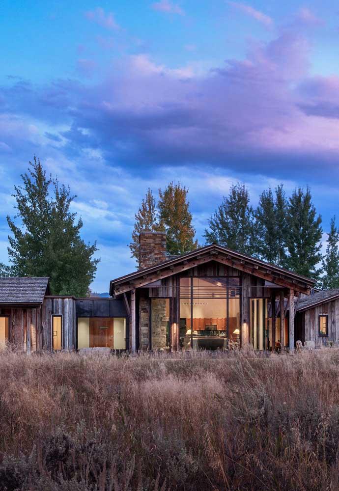 A natureza é protagonista nos projetos de casas de campo