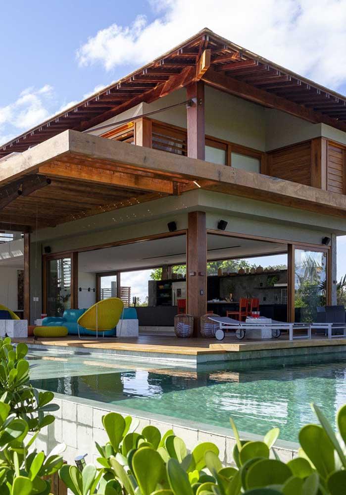 Casa de campo com piscina para um lazer completo
