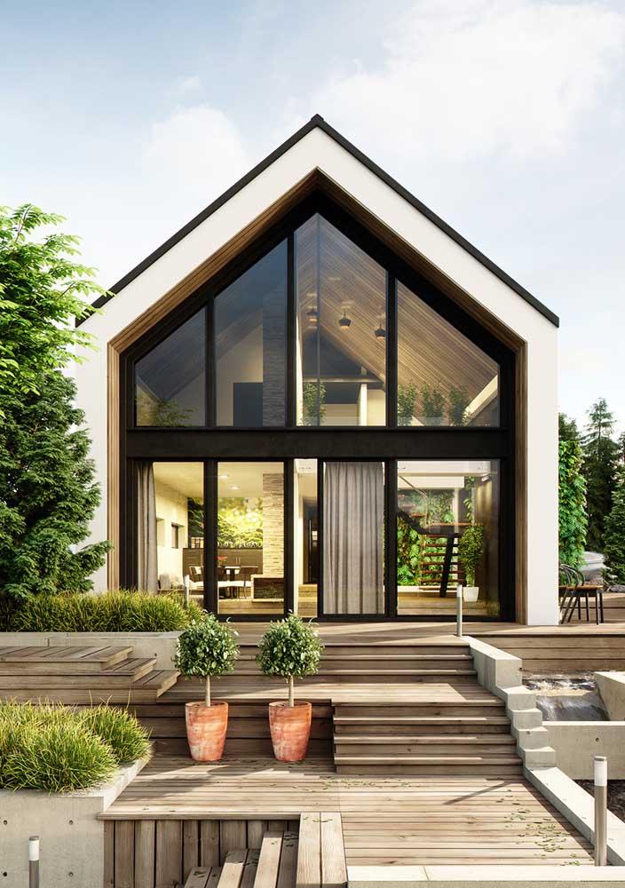 Para quem deseja uma casa de campo sofisticada, essa aqui é perfeita!