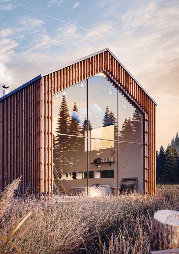 Casa de campo totalmente integrada e voltada para a paisagem