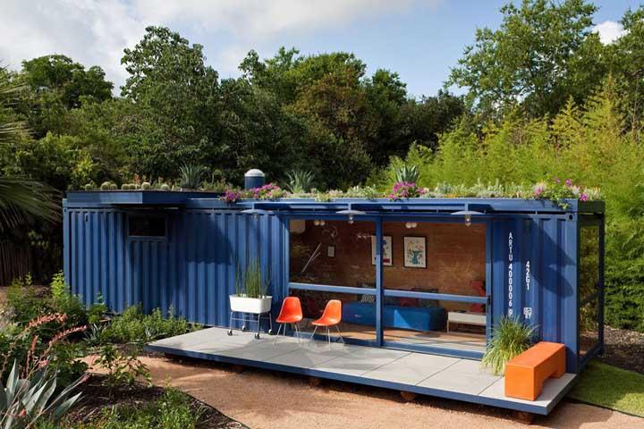 Que tal uma casa container de campo?