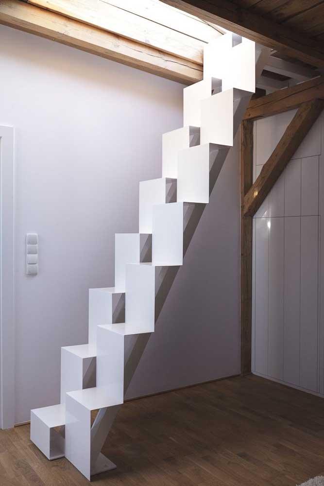 Já pensou fazer uma escada de ferro nesse modelo?