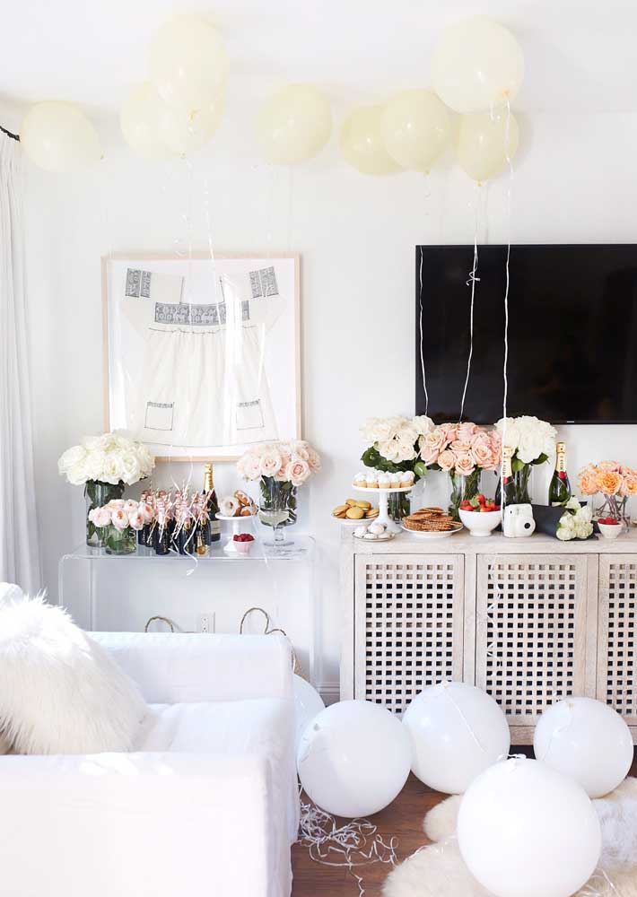 Olha que decoração mais linda que você pode fazer na festa surpresa para mãe.