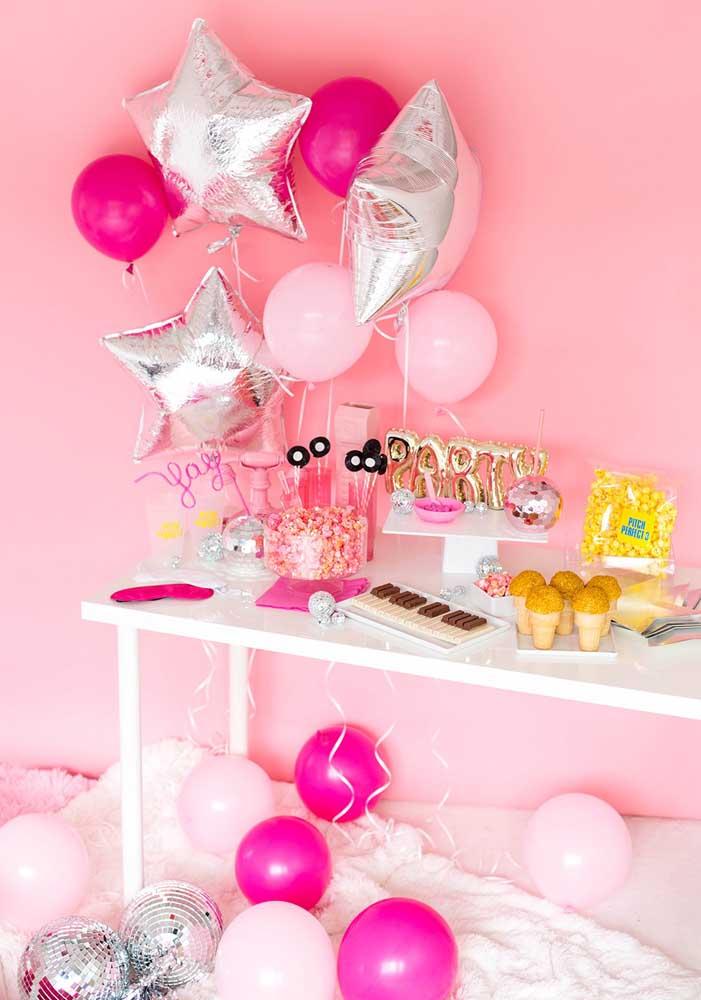 Escolha um tema mais feminino para a festa surpresa.