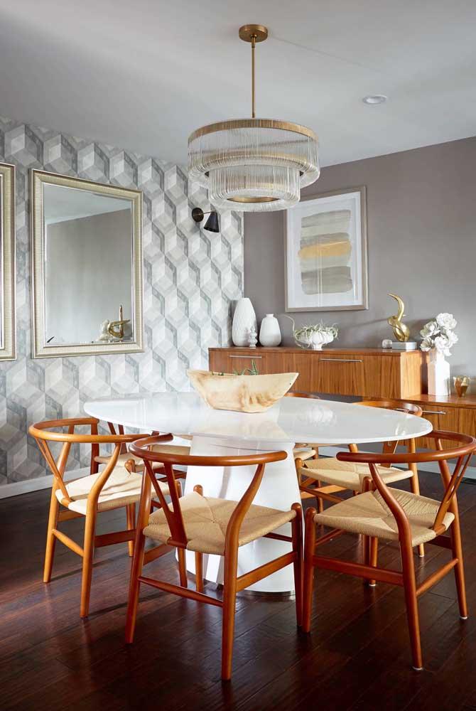 Quem não gostaria de ter um papel de parede 3d na sala de jantar?