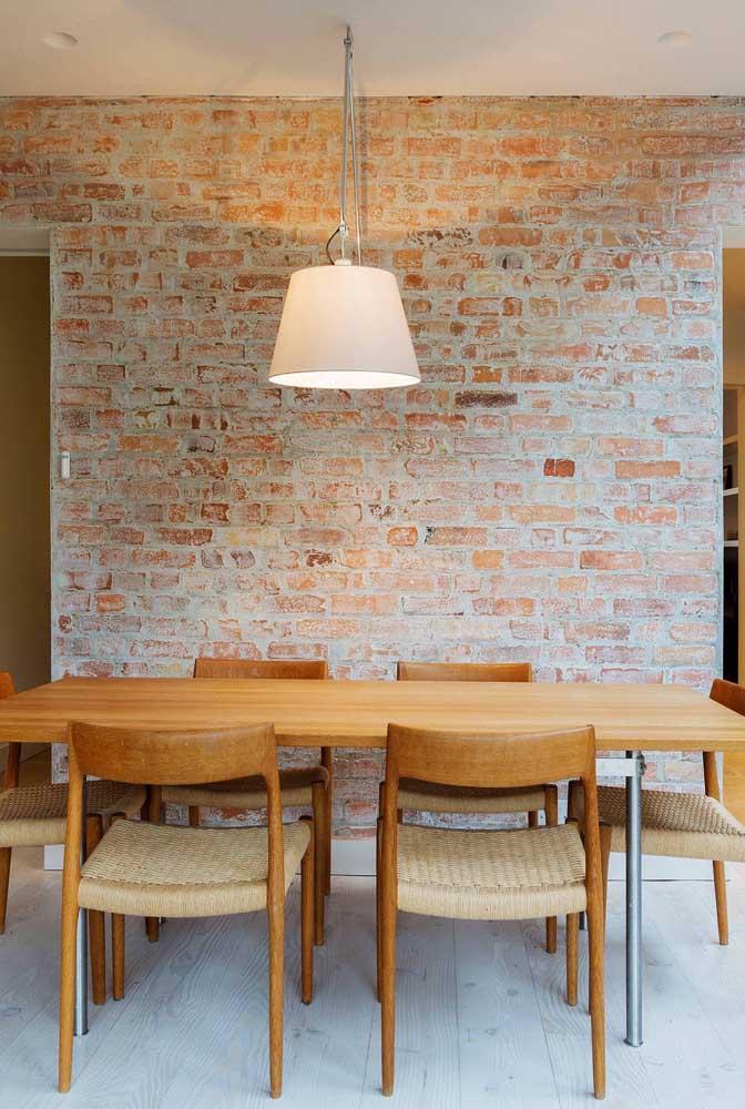 Uma das grandes tendências de papel de parede é o modelo tijolinho.