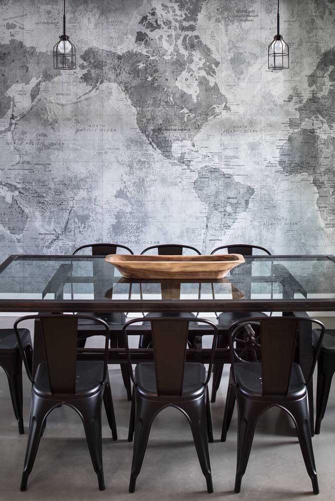 Que tal transferir para o papel de parede da sala de jantar a sua grande paixão por viagem?