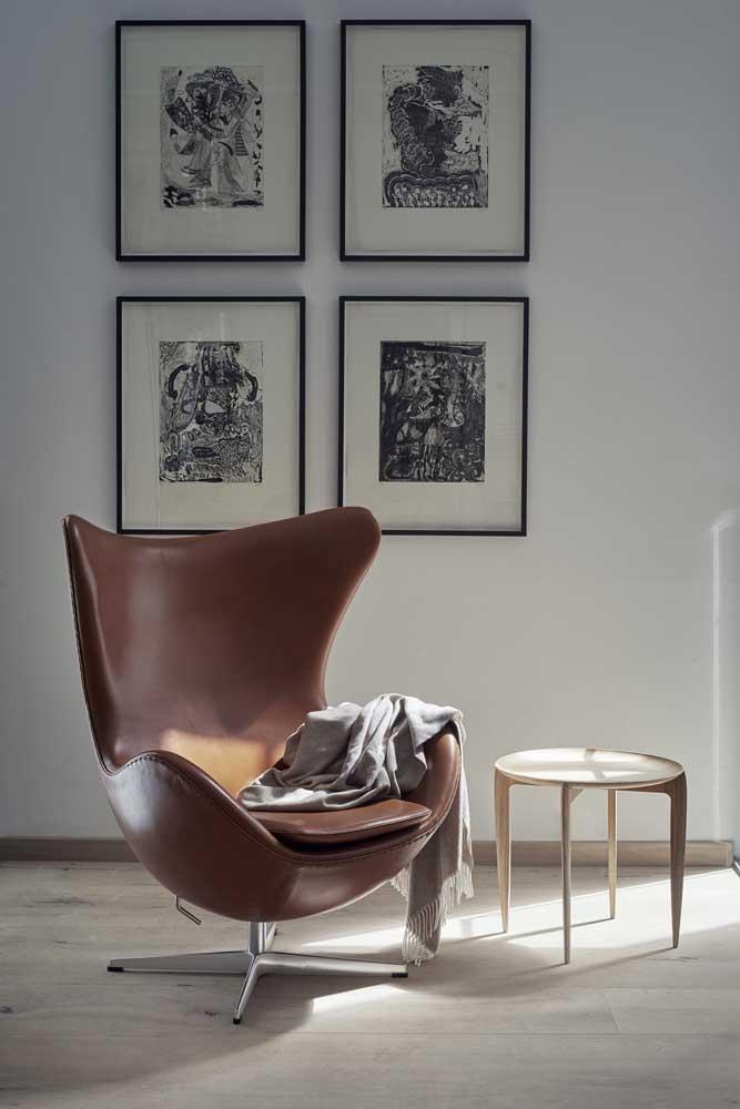 A poltrona egg é um móvel confortável, elegante e com design diferenciado.