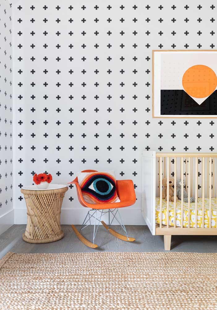 Veja que belo papel de parede para decorar o quarto de bebê masculino.