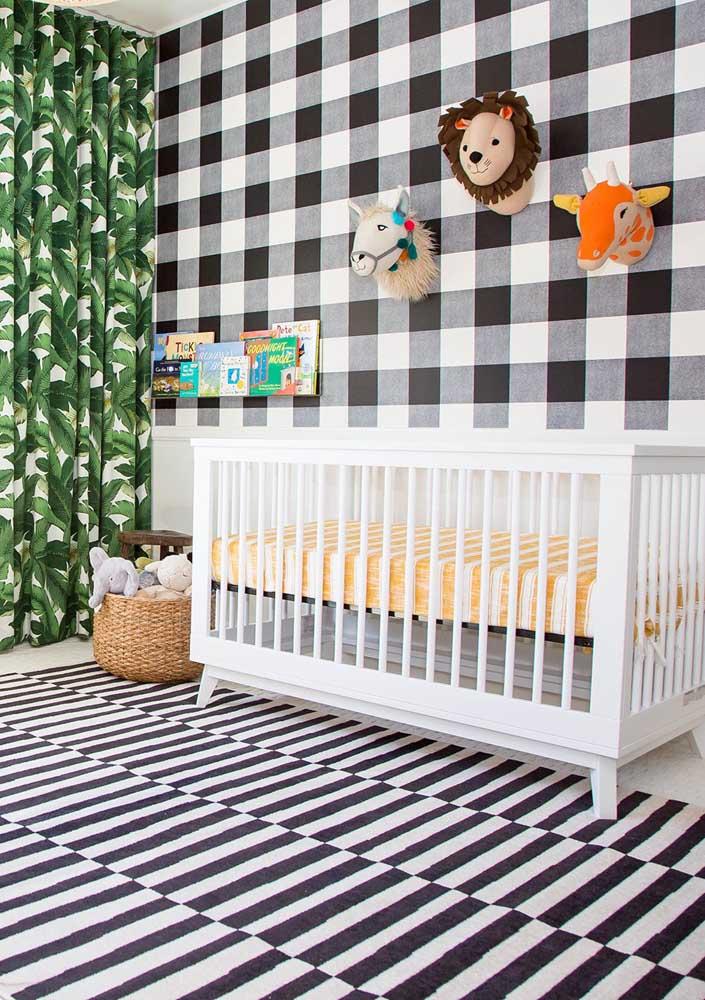 Safári é um dos principais temas para quarto de bebê masculino.
