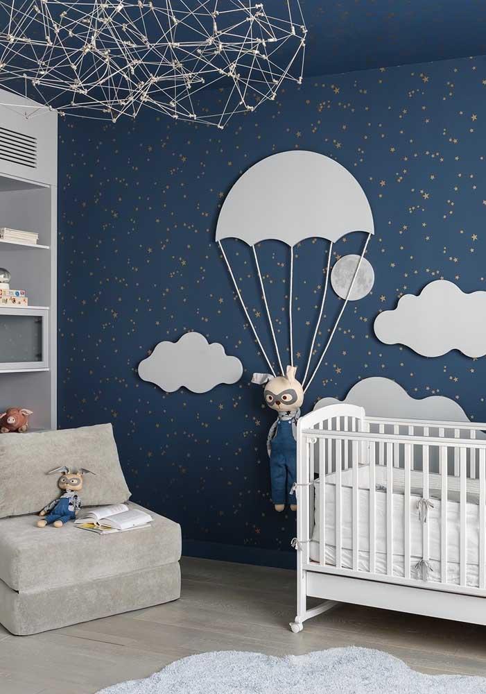 Que quarto de bebê masculino azul marinho mais fofo.