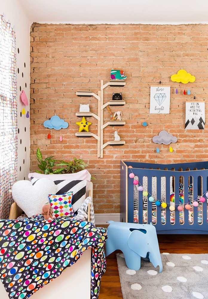 Veja como você pode deixar a parede do quarto de bebê masculino.