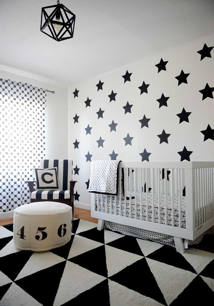 Quer fazer uma decoração de quarto de bebê masculino moderno?