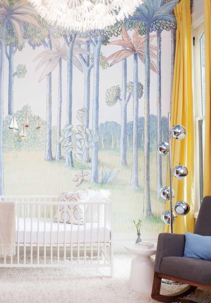 O que acha de fazer uma pintura no quarto de bebê masculino?