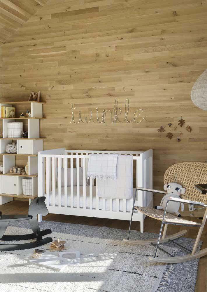 Uau! Olha que bela decoração de quarto de bebê.