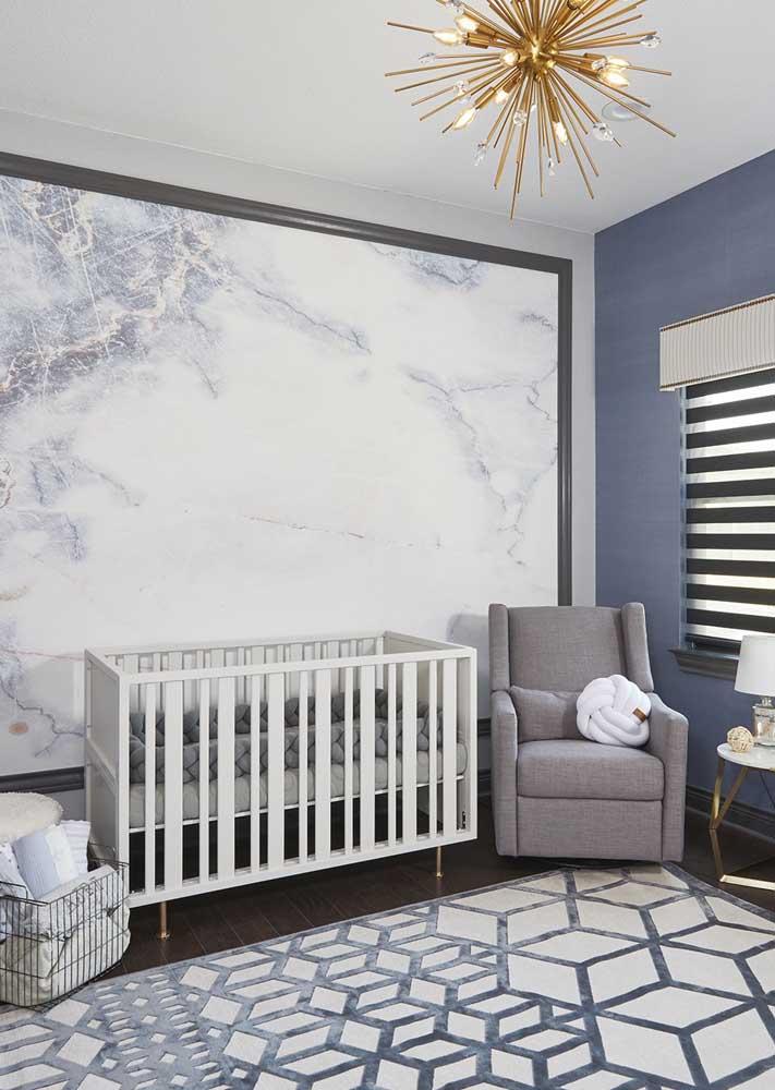 Saiba escolher um papel de parede adequado para o quarto de bebê masculino.