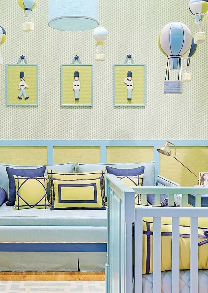 Que tal usar o soldadinho como tema de decoração do quarto de bebê masculino?