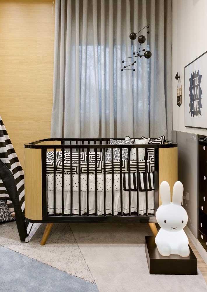 Veja que quarto de bebê estiloso e fofo para receber seu menino.