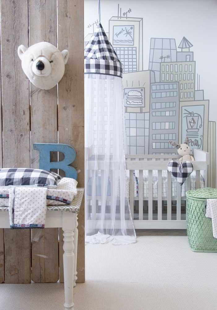No quarto de bebê você pode fazer uma mistura de estilos.