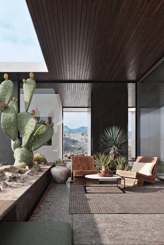 A área de lazer da sua casa pode se transformar em área verde com plantas.