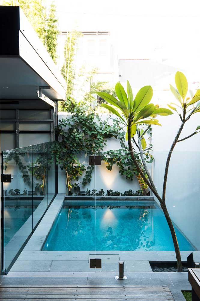 Veja como você pode construir uma piscina com muro de vidro na sua área de lazer.