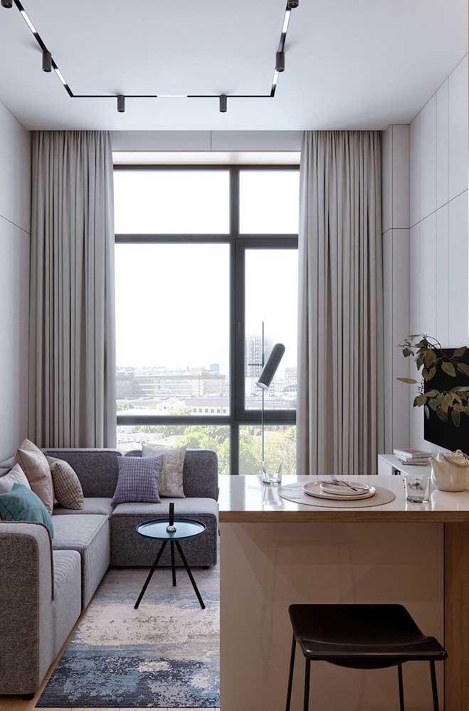 A sala de TV pequena pode ser conjugada com outro ambiente da casa.