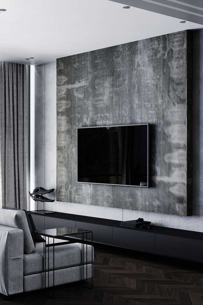 Que tal apostar no estilo minimalista para decorar a sala de TV?