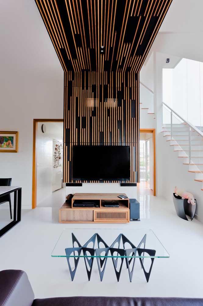 Quem não gostaria de ter uma sala de TV pequena decorada?
