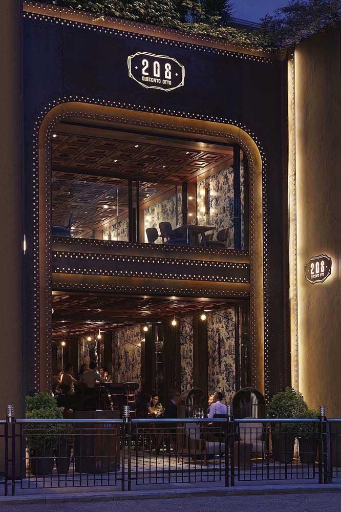 Nesse bar e restaurante, a fachada já é um indício do que está por dentro