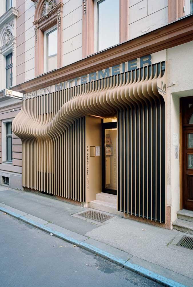 Um pouco de ilusionismo para deixar a fachada ainda mais impressionante!