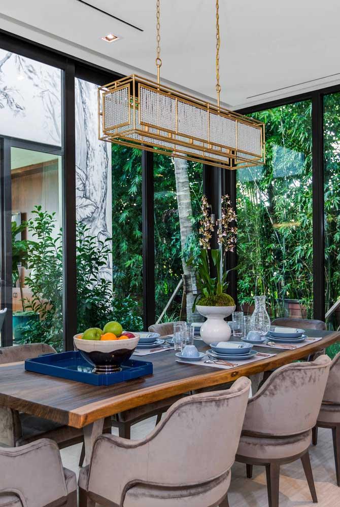 Você já viu um lustre retangular para sala de jantar igual a esse?
