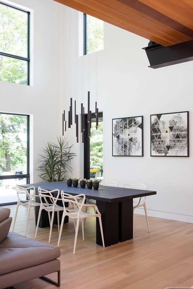 Aposte no lustre pendente para sala de jantar moderna e estilosa.