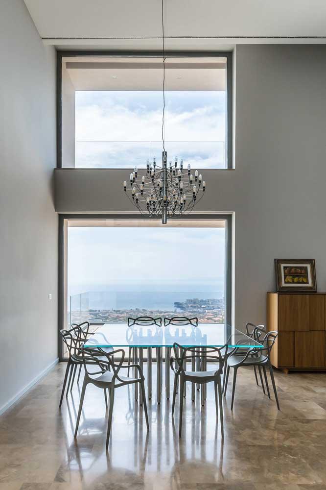 Que sala de jantar com a vista mais linda.