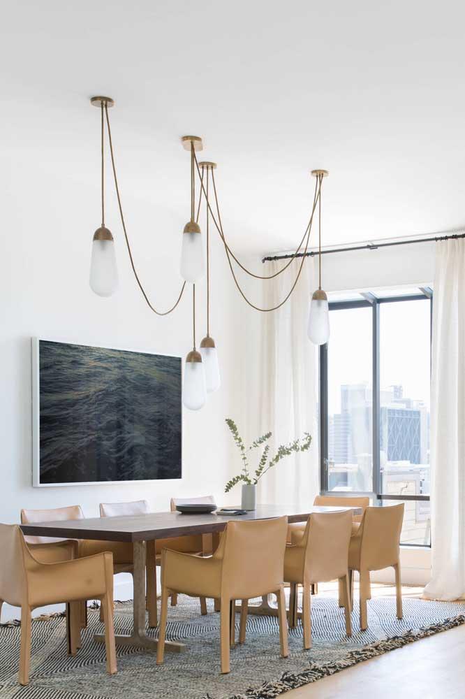 Veja como você pode escolher um lustre pendente para sala de jantar.
