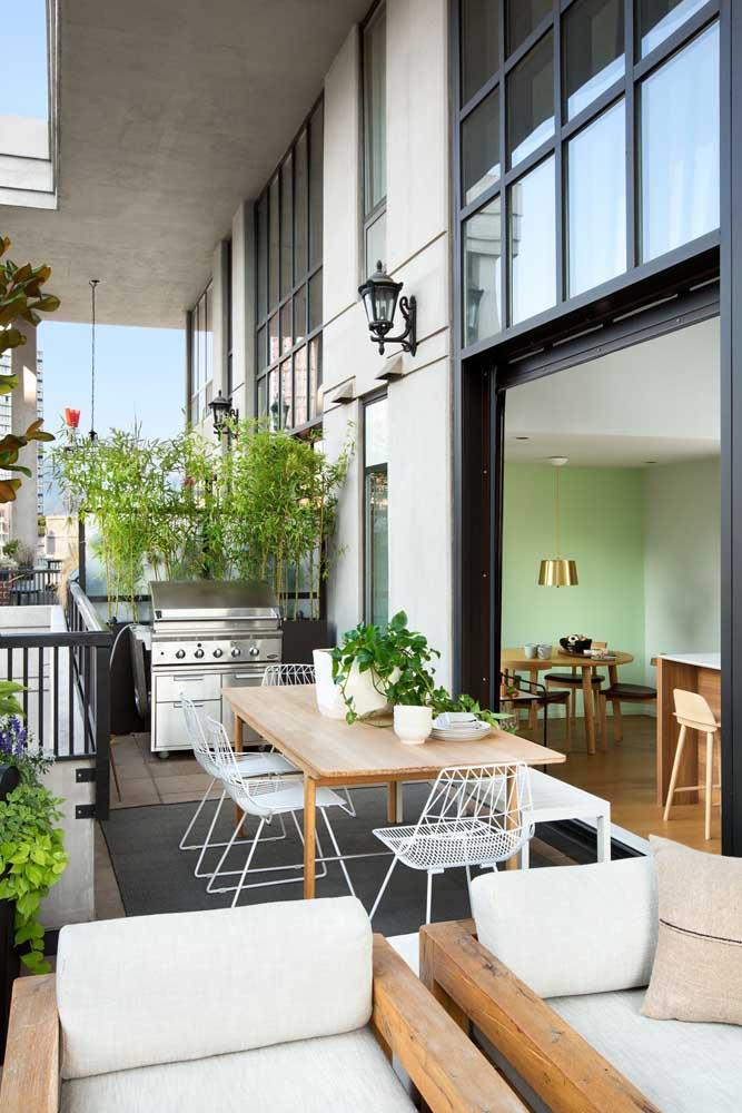 Área gourmet pequena planejada e sob medida para atender as necessidades dos moradores