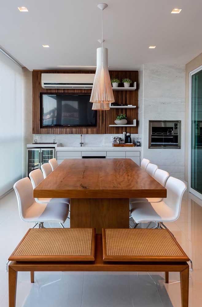 Área gourmet pequena moderna e super elegante