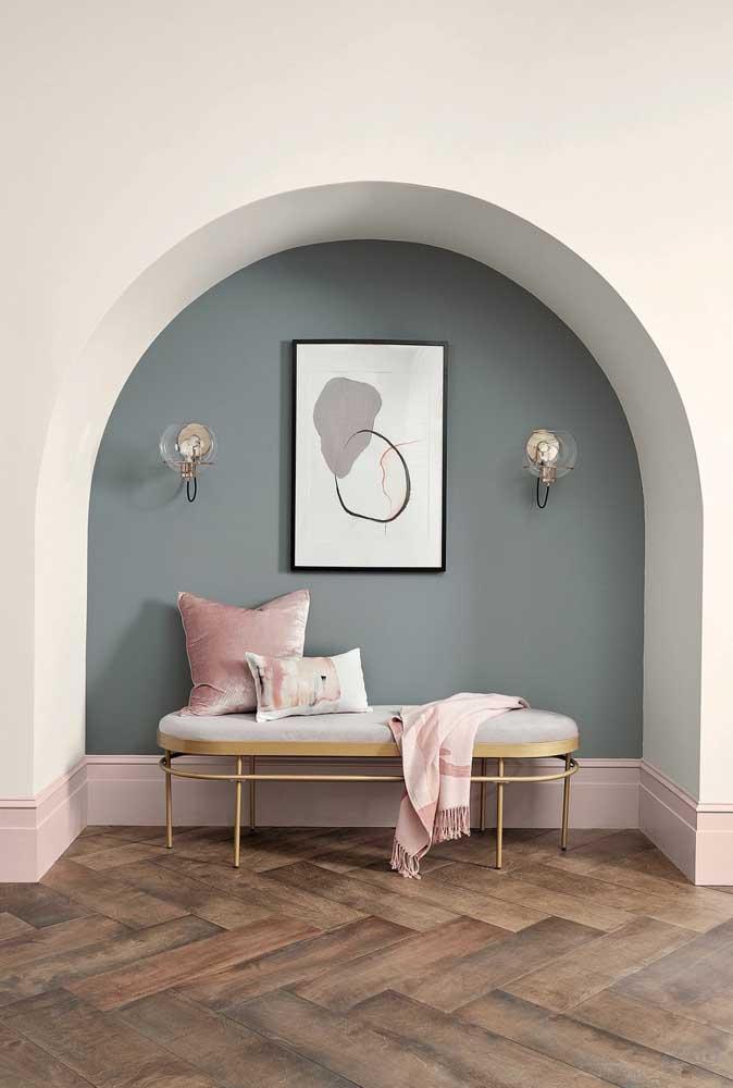 Para o cantinho da casa, uma tonalidade mais fechada de azul