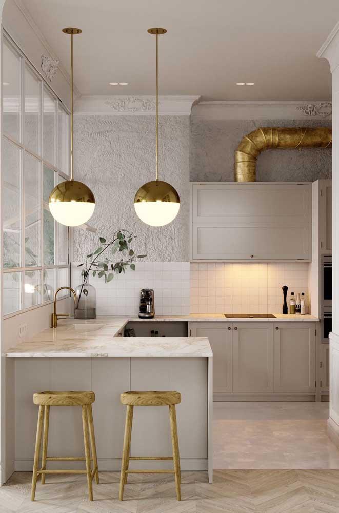 Quando o clássico, o industrial e o moderno se unem o resultado é essa cozinha incrível aqui