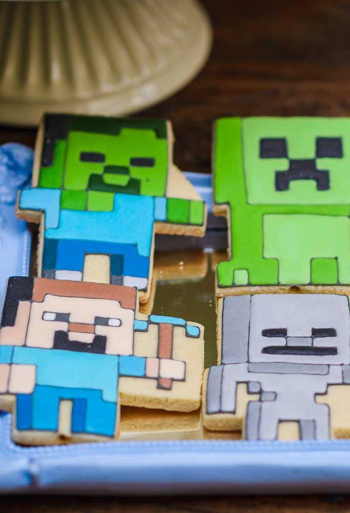 O que acha de distribuir biscoitos no formato dos personagens do minecraft? O resultado promete deixar a criançada com água na boca.