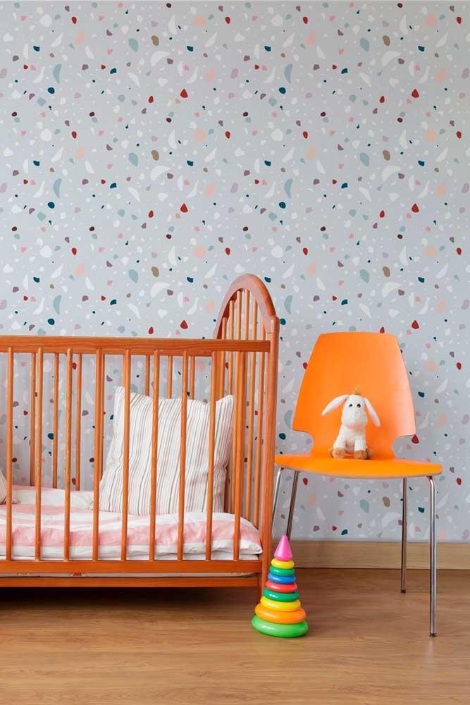 Textura de granilite para o papel de parede do quarto de bebê